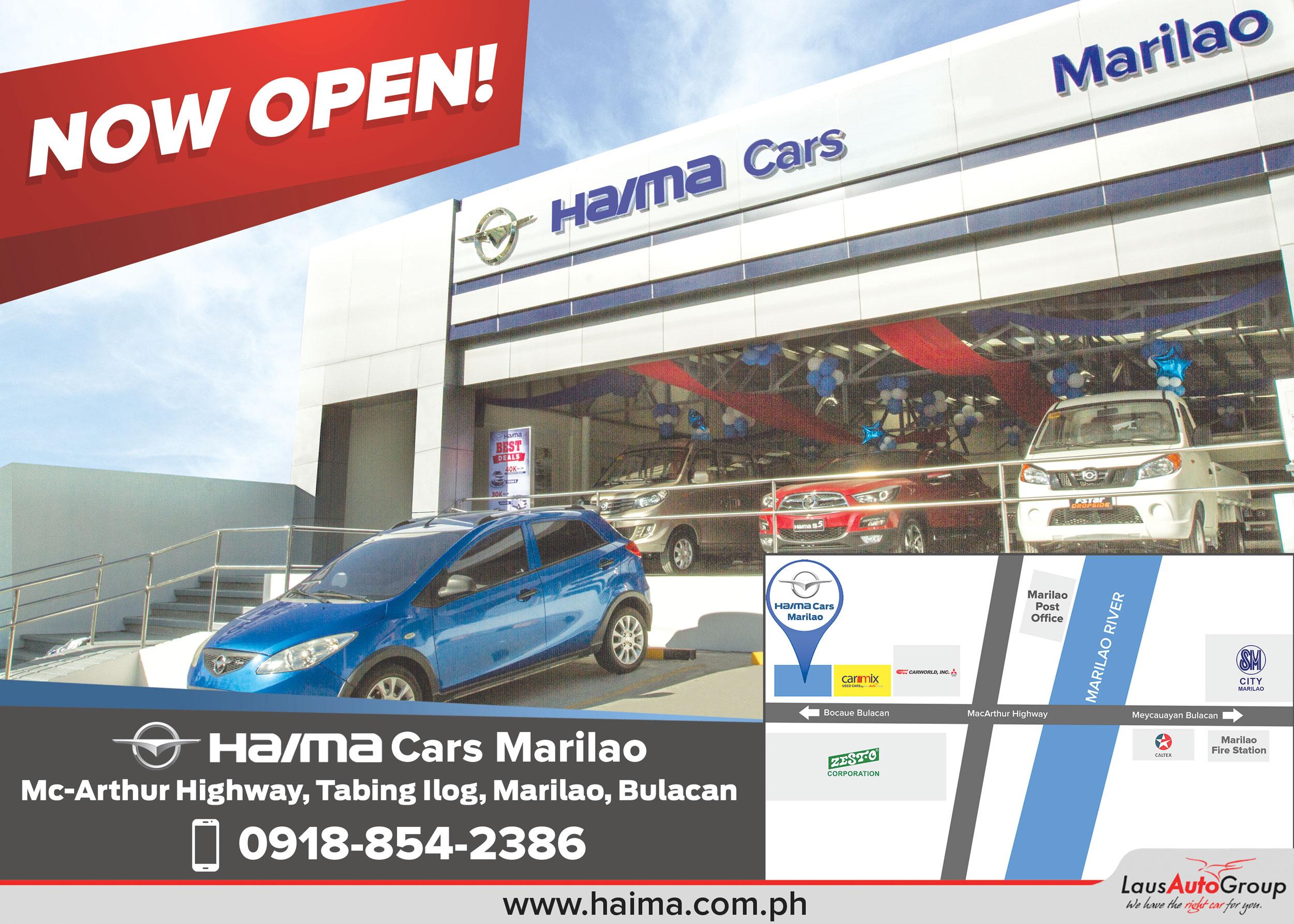 Haima Marilao Now Open