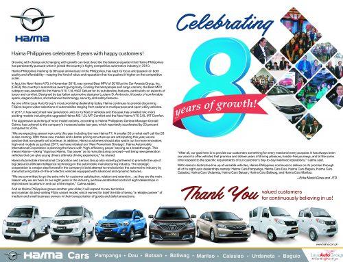 Haima Philippines celebrates 8 years with happy customers!